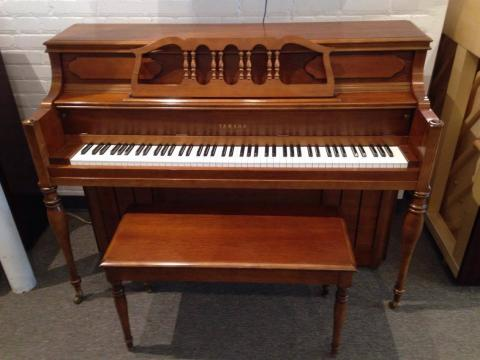Yamaha M-216 Cherry Console Piano with bench