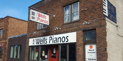 outside Wells Pianos