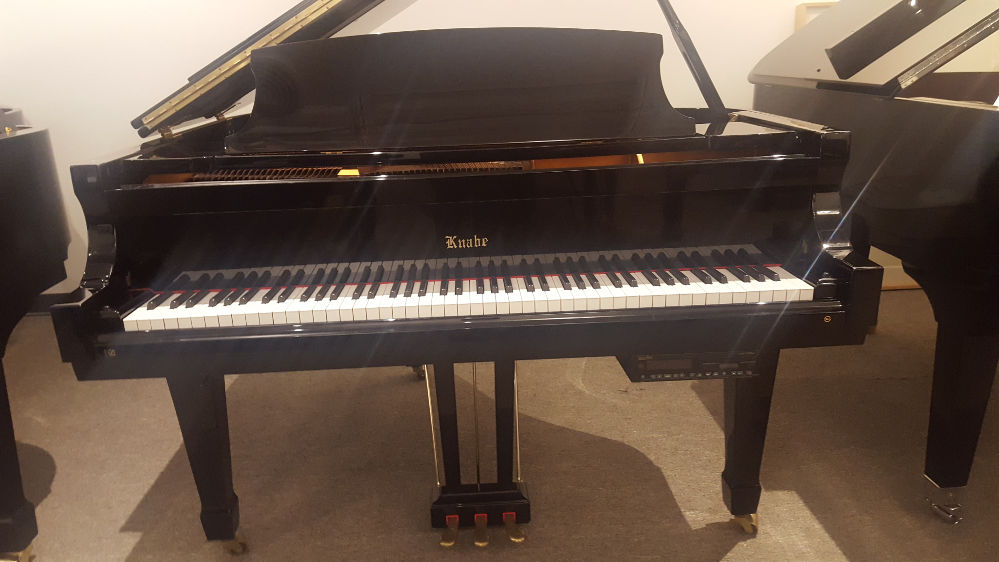 wm knabe co 5 grand w silent play option wells pianos