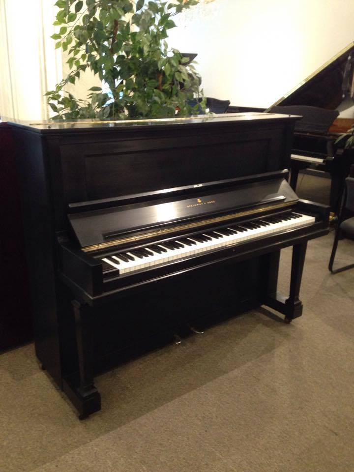 steinway v upright ebony satin wells pianos