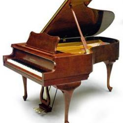 Charles Walter 190 Grand Piano Cherry