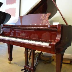 New Brodmann grand piano model PE 187 with a beautiful mahogany finish