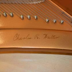 Charles Walter grand piano in excellent condition -plate
