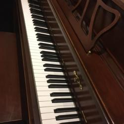 Used Kawai Model 505F French Provincial Cherry Console Side View of Keys