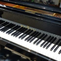 "5'9"" German made Schimmel grand piano in gloss black"