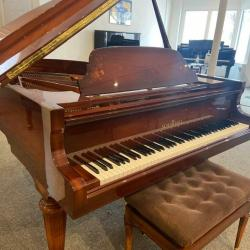 Schimmel Model 182 Intarsia 6' Grand Piano - Side