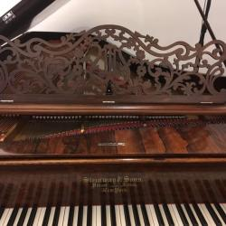 Steinway Style 2 Rosewood 7' Grand Piano Music Rack