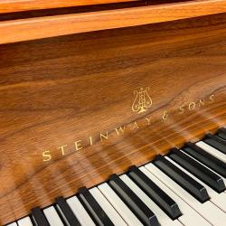 "Steinway Model M Teague Sketch 1111 ""Modern Centennial"" Grand Piano fall board"