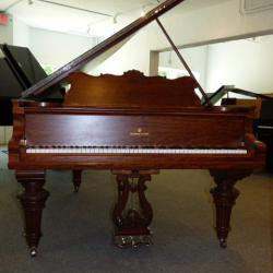 Steinway B Art Case - Quilted Mahogany