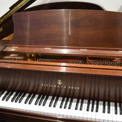 Steinway M in Mahogany - Close Front