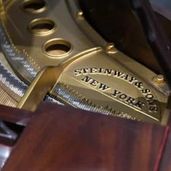 Steinway M in Mahogany - Plate Lettering