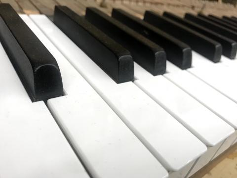 Piano keys for a rebuilt Steinway piano