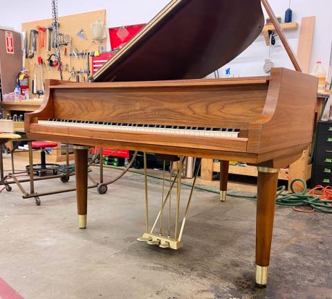 "Steinway Model M Teague Sketch 1111 ""Modern Centennial"" Grand Piano main"