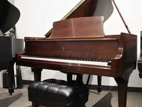 Steinway M in Mahogany - Front Distance